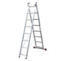 Алюминиевые двухсекционные лестницы-стремянки серия Corda Krause