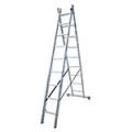 Алюминиевые двухсекционные лестницы-стремянки серия Dubilo Krause