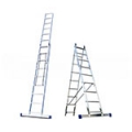 Алюминиевые двухсекционные лестницы широкий профиль серия НS2 Алюмет
