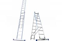 Алюминиевая двусекционная лестница 2х8 ступ