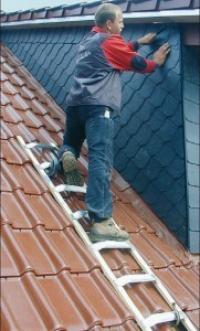 Лестница для крыши из алюминия, 16 перекладин