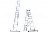 Алюминиевая двухсекционная лестница широкий профиль 2х18 ступ
