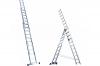 Алюминиевая трехсекционная лестница-стремянка 3х9 ступ