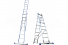 Алюминиевая двусекционная лестница 2х7 ступ