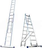 Алюминиевая двусекционная лестница 2х10 ступ